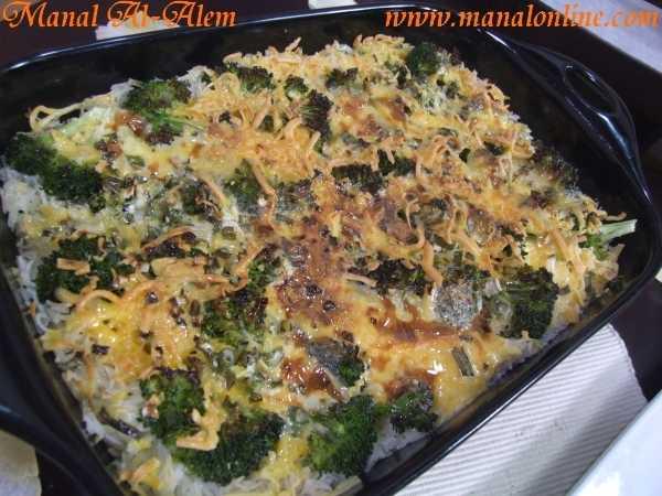 صينية الأرز بالبروكلي