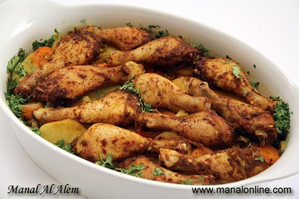 صينية الدجاج بالتمر الهندي والخضروات