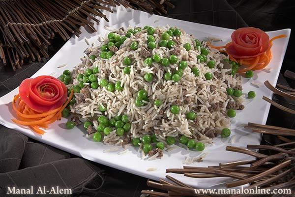 كبسة الأرز باللحم المفروم و البازيلاء 1766_1_752