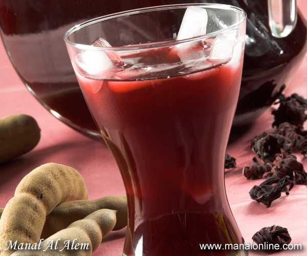 شراب الكركديه والتمر الهندي
