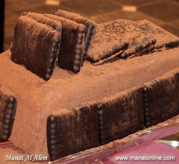 تورتة البسكويت بالشوكولاتة
